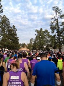 At the start of the LA marathon