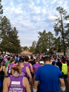 At the start of the LA marathon